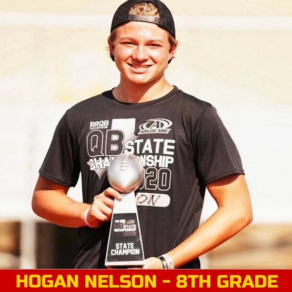 Hogan Nelson is currently an 8th Grader at Fort Worth Christian School in North Richland Hills, Texas